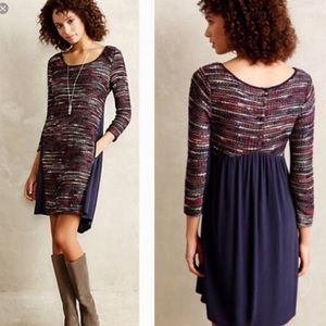 Anthropologie Maeve Multicolored Sweater Dress